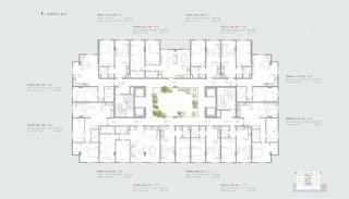 Residentie-concept Appartementen in Sarıyer Istanbul, Vloer Plannen-2