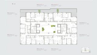 Residentie-concept Appartementen in Sarıyer Istanbul, Vloer Plannen-3