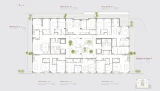 Residentie-concept Appartementen in Sarıyer Istanbul, Vloer Plannen-4