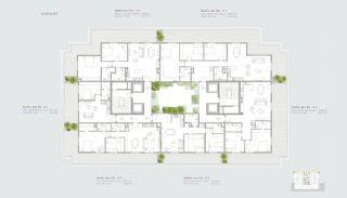 Residentie-concept Appartementen in Sarıyer Istanbul, Vloer Plannen-6