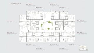 Residentie-concept Appartementen in Sarıyer Istanbul, Vloer Plannen-7