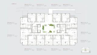 Residentie-concept Appartementen in Sarıyer Istanbul, Vloer Plannen-8