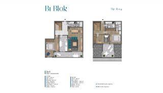 Villa's met zeezicht op loopafstand van voorzieningen in Istanbul, Vloer Plannen-4