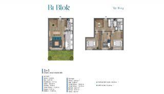 Villa's met zeezicht op loopafstand van voorzieningen in Istanbul, Vloer Plannen-5