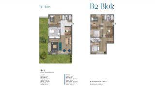 Villa's met zeezicht op loopafstand van voorzieningen in Istanbul, Vloer Plannen-7