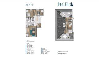 Villa's met zeezicht op loopafstand van voorzieningen in Istanbul, Vloer Plannen-9