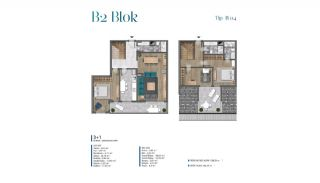 Villa's met zeezicht op loopafstand van voorzieningen in Istanbul, Vloer Plannen-10