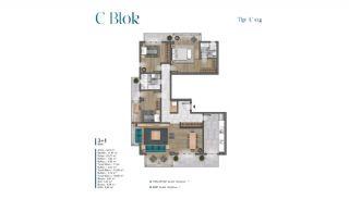 Villa's met zeezicht op loopafstand van voorzieningen in Istanbul, Vloer Plannen-12