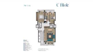 Villa's met zeezicht op loopafstand van voorzieningen in Istanbul, Vloer Plannen-13