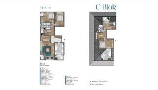 Villa's met zeezicht op loopafstand van voorzieningen in Istanbul, Vloer Plannen-15