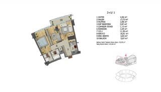 Apartments in Premium Quality Complex in Basaksehir Istanbul, Property Plans-4