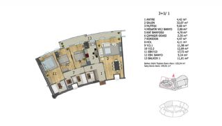 Apartments in Premium Quality Complex in Basaksehir Istanbul, Property Plans-6