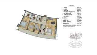 Apartments in Premium Quality Complex in Basaksehir Istanbul, Property Plans-8