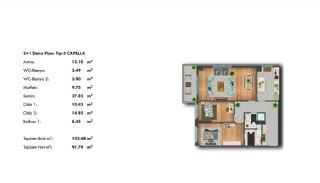 Profitable Investment Flats in Büyükçekmece Istanbul, Property Plans-6