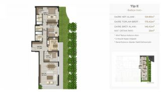 Modern Real Estate with High-End Security in Istanbul, Property Plans-1