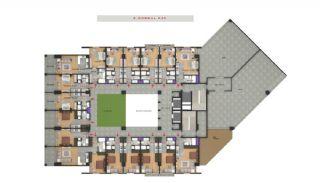 Квартиры в Центре Бююкчекмедже в Стамбуле с Видом на Море, Планировка -4