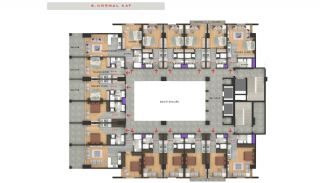 Central Sea View Apartments in Istanbul Buyukcekmece, Property Plans-5