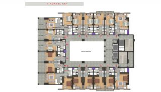 Central Sea View Apartments in Istanbul Buyukcekmece, Property Plans-6