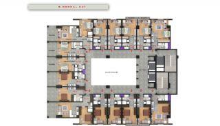 Квартиры в Центре Бююкчекмедже в Стамбуле с Видом на Море, Планировка -7