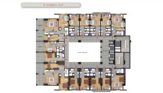 Квартиры в Центре Бююкчекмедже в Стамбуле с Видом на Море, Планировка -8