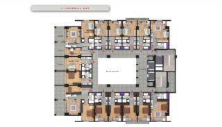 Квартиры в Центре Бююкчекмедже в Стамбуле с Видом на Море, Планировка -10