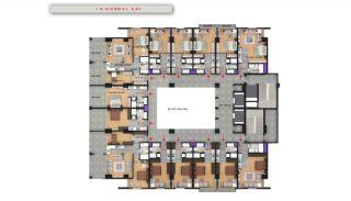 Квартиры в Центре Бююкчекмедже в Стамбуле с Видом на Море, Планировка -11