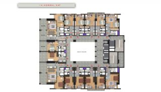 Central Sea View Apartments in Istanbul Buyukcekmece, Property Plans-13