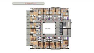 Квартиры в Центре Бююкчекмедже в Стамбуле с Видом на Море, Планировка -15