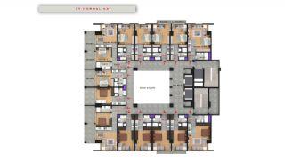 Квартиры в Центре Бююкчекмедже в Стамбуле с Видом на Море, Планировка -16