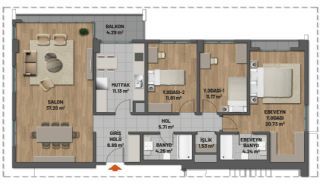 First Class Apartments in Prime Location in Maltepe Istanbul, Property Plans-6
