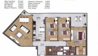 Spacious Flats near E-5 Highway in Esenyurt Istanbul, Property Plans-12