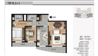 Key Ready Apartments Close to All Amenities in Istanbul, Property Plans-2