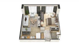 Stadszicht Appartementen met Investeringsmogelijkheden in Eyup, Vloer Plannen-5