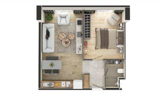 Stadszicht Appartementen met Investeringsmogelijkheden in Eyup, Vloer Plannen-9