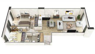 Stadszicht Appartementen met Investeringsmogelijkheden in Eyup, Vloer Plannen-13