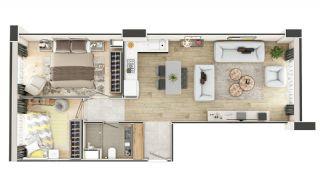 Stadszicht Appartementen met Investeringsmogelijkheden in Eyup, Vloer Plannen-16