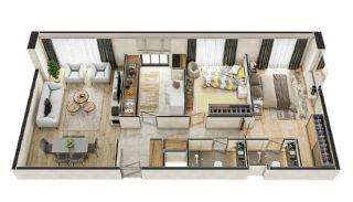 Stadszicht Appartementen met Investeringsmogelijkheden in Eyup, Vloer Plannen-19