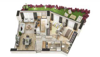 Stadszicht Appartementen met Investeringsmogelijkheden in Eyup, Vloer Plannen-2