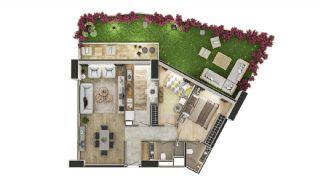 Stadszicht Appartementen met Investeringsmogelijkheden in Eyup, Vloer Plannen-6