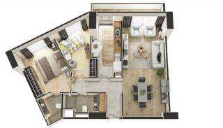 Stadszicht Appartementen met Investeringsmogelijkheden in Eyup, Vloer Plannen-10