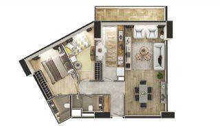 Stadszicht Appartementen met Investeringsmogelijkheden in Eyup, Vloer Plannen-14