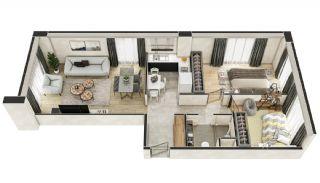 Stadszicht Appartementen met Investeringsmogelijkheden in Eyup, Vloer Plannen-17