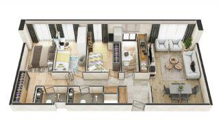 Stadszicht Appartementen met Investeringsmogelijkheden in Eyup, Vloer Plannen-3