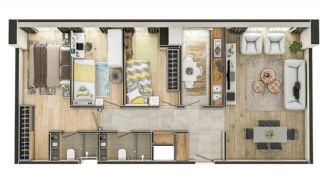 Stadszicht Appartementen met Investeringsmogelijkheden in Eyup, Vloer Plannen-7