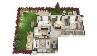 Stadszicht Appartementen met Investeringsmogelijkheden in Eyup, Vloer Plannen-11