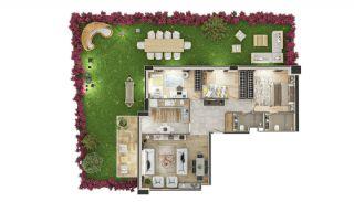 Stadszicht Appartementen met Investeringsmogelijkheden in Eyup, Vloer Plannen-15