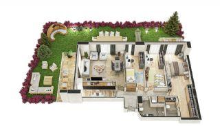 Stadszicht Appartementen met Investeringsmogelijkheden in Eyup, Vloer Plannen-18