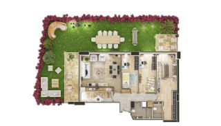 Stadszicht Appartementen met Investeringsmogelijkheden in Eyup, Vloer Plannen-4
