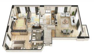 Stadszicht Appartementen met Investeringsmogelijkheden in Eyup, Vloer Plannen-8