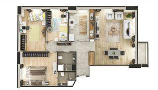 Stadszicht Appartementen met Investeringsmogelijkheden in Eyup, Vloer Plannen-12